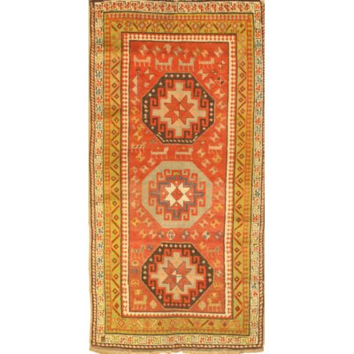 Hand-Knotted Wool Brown/Orange Area Rug