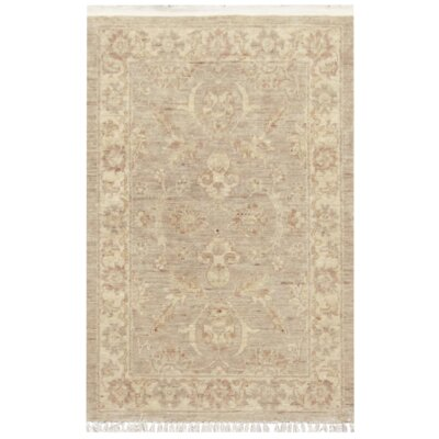 Farahan Hand-Knotted Wool Beige Area Rug