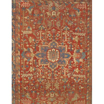 Hand-Knotted Wool Rust Area Rug