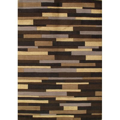 Modern Hand-Tufted Wool Brown/Tan Area Rug