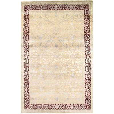 Hand-Knotted Wool Beige/Red Area Rug