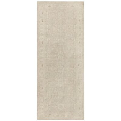 Tabriz Fine Hand-Knotted Wool Beige Area Rug