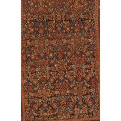 Malayer Hand-Knotted Silk Navy/Red Area Rug