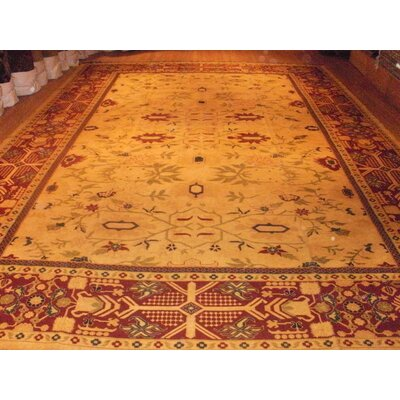 Sultanabad Pak Sumac Hand-Knotted Wool Camel/Rust Area Rug