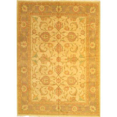 Original Persian Sultanabad Lambs Hand-Knotted Wool Ivory/Beige Area Rug