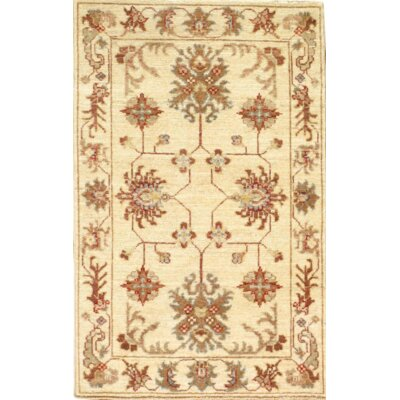 Farahan Scatter Hand-Knotted Wool Ivory Area Rug