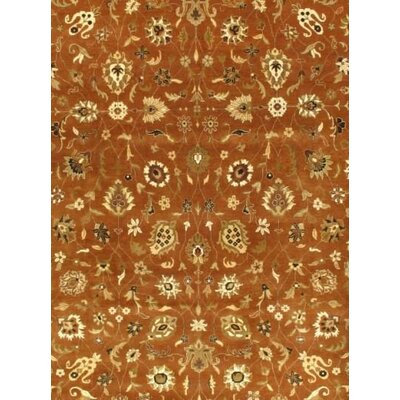 Tabriz Indo Hand-Knotted Wool Light Brown/Dark Brown Area Rug