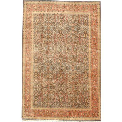 Herekeh Hand-Knotted Wool Gray/Orange Area Rug