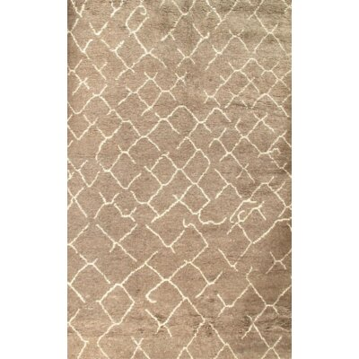 Moroccan Hand-Knotted Wool Brown Area Rug