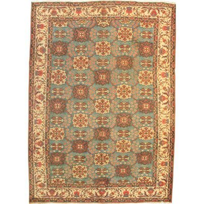 Persian Hand-Knotted Wool Light Blue/Ivory Area Rug