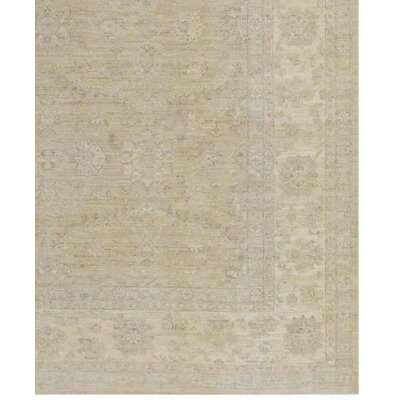 Farahan Hand-Knotted Wool Brown Area Rug