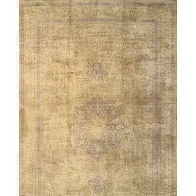 Tutkish Hand-Knotted Wool Ivory Area Rug