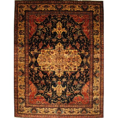 Indian Hand-Knotted Wool Brown/Black Area Rug