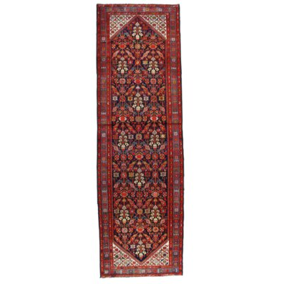 Persian Hand-Knotted Wool Navy/Light Blue Area Rug