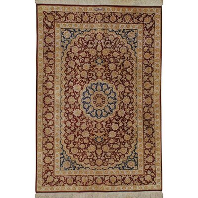 Persian Hand-Knotted Red/Gold Area Rug