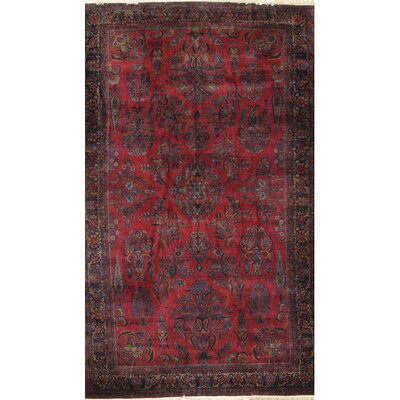 Antique Kashan Hand-Knotted Wool Red/Brown Indoor Area Rug