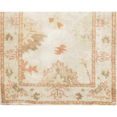 Oushak Design Hand-Knotted Wool Ivory Area Rug