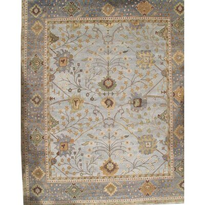 Turkish Hand Knotted Wool Brown Area Rug