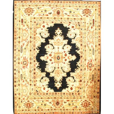 Sultanabad Hand Knotted Wool Beige Area Rug