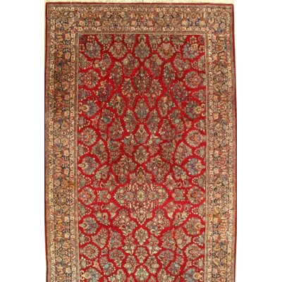 Persian Hand Knotted Wool Red/Navy Area Rug