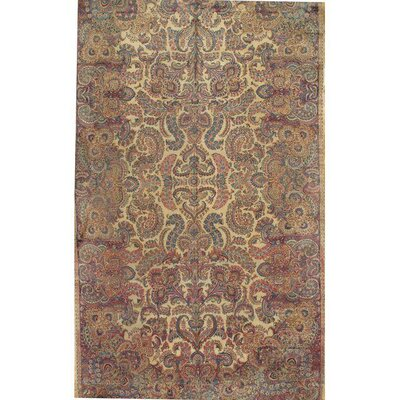 Lavar Kerman Hand-Knotted Wool Beige/Blue Area Rug