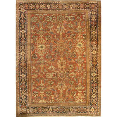 Mahal Hand-Knotted Wool Rust/Navy Area Rug