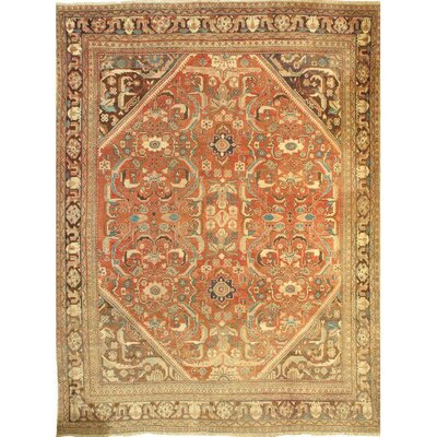 Mahal Hand-Knotted Wool Rust/Brown Area Rug