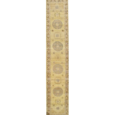 Khotan Hand-Knotted Wool Gold Area Rug