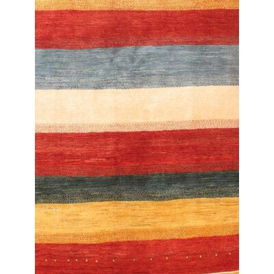 Gabbeh Hand-Knotted Wool Red/Ivory Area Rug