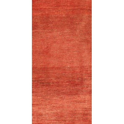 Gabbeh Hand-Knotted Wool Red Area Rug