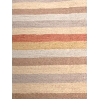 Flat Weave Hand-Knotted Wool Brown/Beige Area Rug