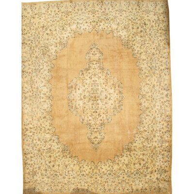 Persian Hand-Knotted Wool Ivory/Beige Area Rug