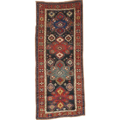 Kazak Wool Rust/Navy Area Rug