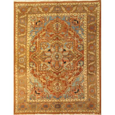 Persian Hand-Knotted Wool Brown Area Rug