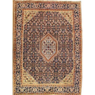 Persian Hand-Knotted Wool Navy Area Rug