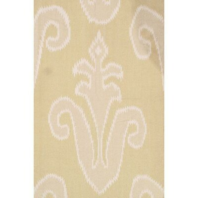 Flat Weave Hand-Knotted Wool Beige Area Rug