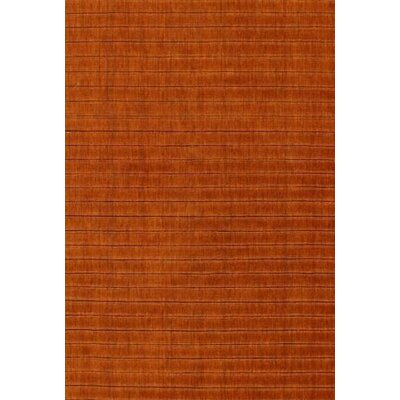 Modern Hand-Knotted Wool Copper Area Rug