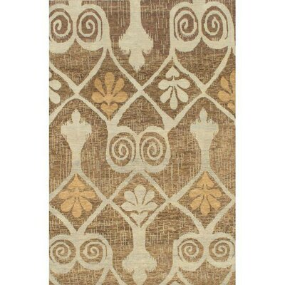 Modern Hand-Knotted Wool Brown/Gray Area Rug