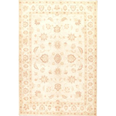 Farahan Original Hand-Knotted Wool Ivory Area Rug