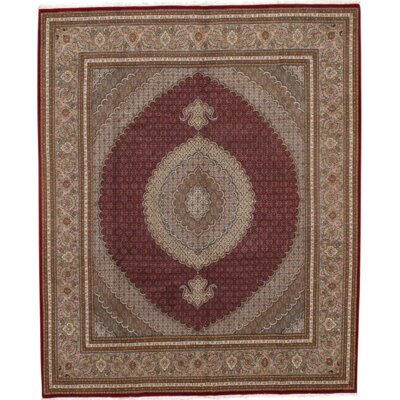 Tabriz Hand-Knotted Wool Persian Red Area Rug Rug Size: 8 1 X 10