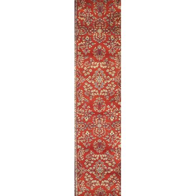 Persian Gabbeh Design Hand-Knotted Wool Red Area Rug