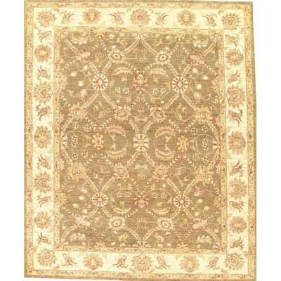 Original Farahan Hand-Knotted Wool Light Brown/Ivory Area Rug