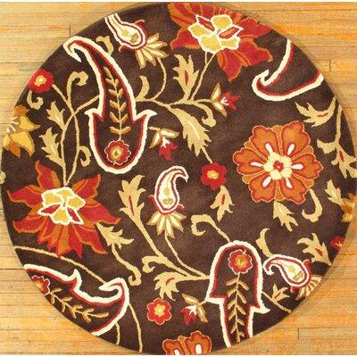 Handmade Modern Hand-Tufted Wool Brown/Rust Area Rug