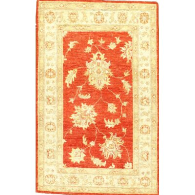 Farahan Hand-Knotted Wool Orange/Yellow Area Rug