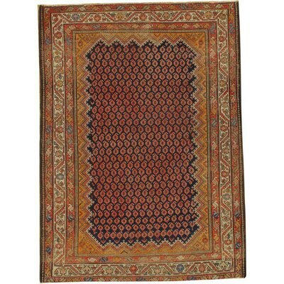 Persian Malayer Hand-Knotted Wool Brown Area Rug