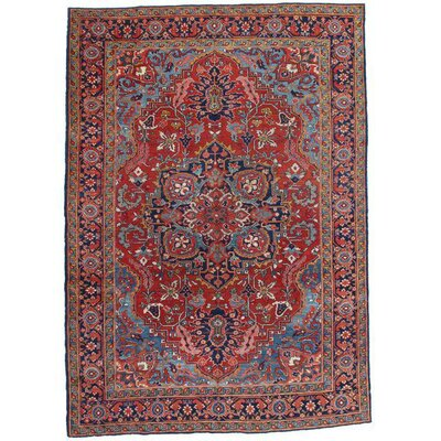 Persian Heriz Hand-Knotted Wool Brown/Gray Area Rug