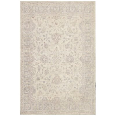 Tabriz Hand-Knotted Wool Beige/Gray Area Rug
