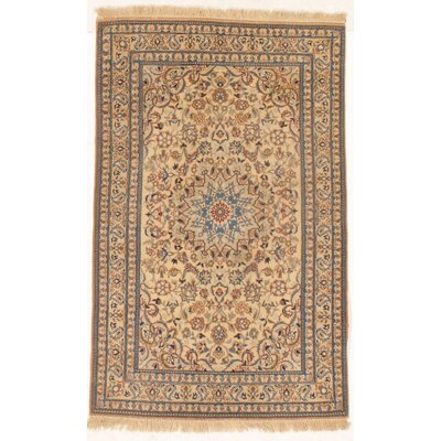 Nain Hand-Knotted Wool Ivory/Blue Area Rug