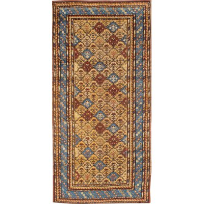 Kazak Hand-Knotted Wool Rust/Green Area Rug