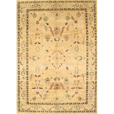Ziegler Sultanabad Hand-Knotted Wool Camel Area Rug